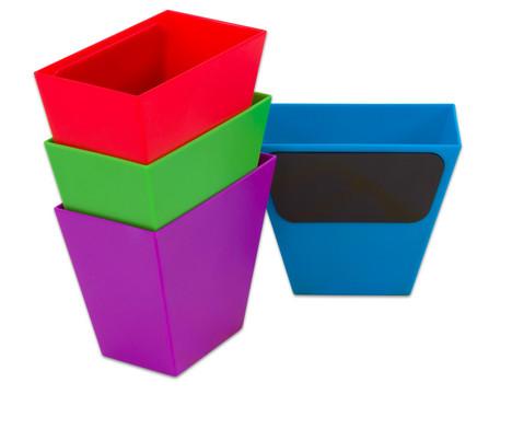 Magnetische Aufbewahrungsboxen Set mit 4 Stueck bunt