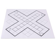 XL-Ludo-Spieloberfläche aus Papier