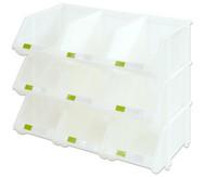 Stapelbox Set mit 9 Stück - transparent, klein
