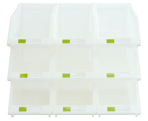 Stapelbox Set mit 9 Stueck - transparent klein-3