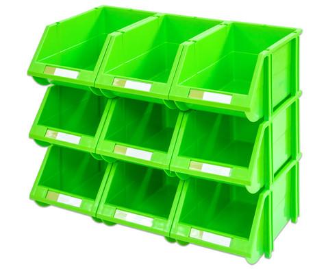 Stapelbox Set mit 9 Stueck - gruen klein-1