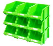 Stapelbox Set mit 9 Stück - grün, klein