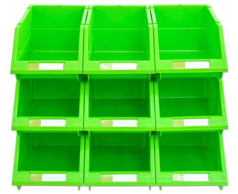 Stapelbox Set mit 9 Stueck - gruen klein-2