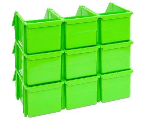 Stapelbox Set mit 9 Stueck - gruen klein-3