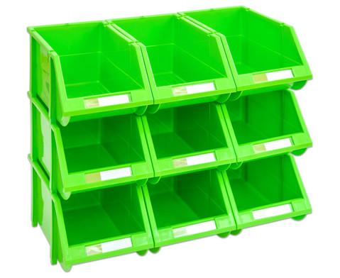 Stapelbox Set mit 9 Stueck - gruen klein-4