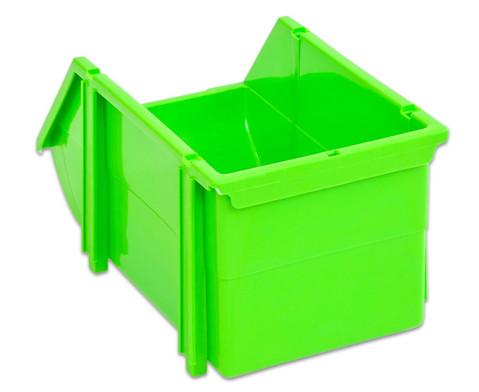 Stapelbox Set mit 9 Stueck - gruen klein-6