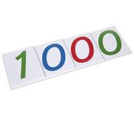 Große Zahlenkarten, 1-1000