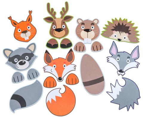 Bunte Tiermasken 7 Stueck