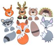 Bunte Tiermasken, 7 Stück