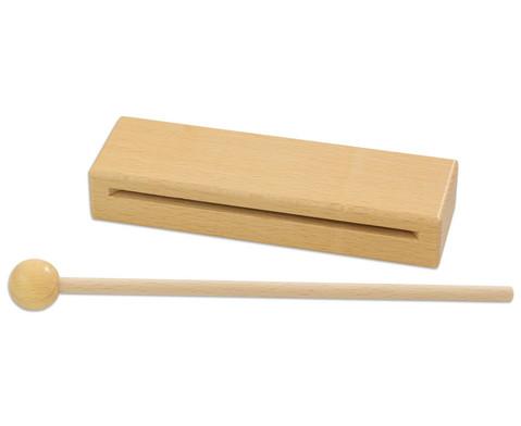 Betzold Musik Holzblocktrommel mit Schlaegel