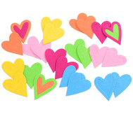 Herzen aus Filz, 24 Stück
