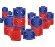 Riesensteckwürfel-Set magnetisch, 40 Stück, rot-blau