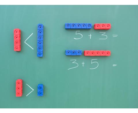 Riesensteckwuerfel-Set magnetisch 40 Stueck rot-blau-2
