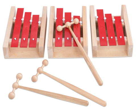 Betzold Musik Dreiklang-Glockenspiel-Set Sopran