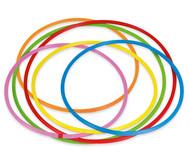 Hula-Hoop Reifen Regenbogen-Set, 6 Stück