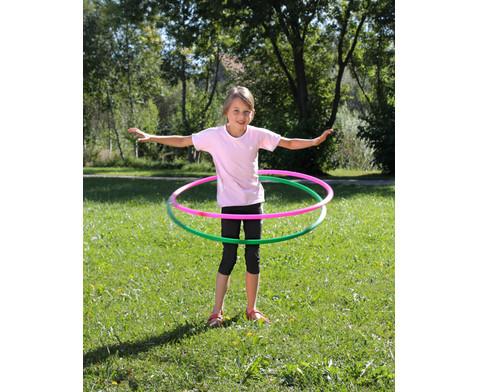 Hula-Hoop Reifen Regenbogen-Set 6 Stueck-4