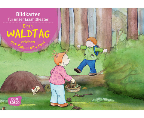 Einen Waldtag erleben mit Emma und Paul Kamishibai-Bildkartenset
