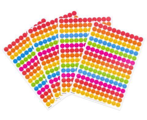 Belohnungssticker bunte Smileys 660 Stueck-1