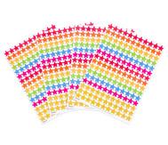 Belohnungssticker bunte Sterne, 660 Stück