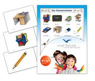 Bildkarten Klassenzimmer inkl. Bingo Spiel