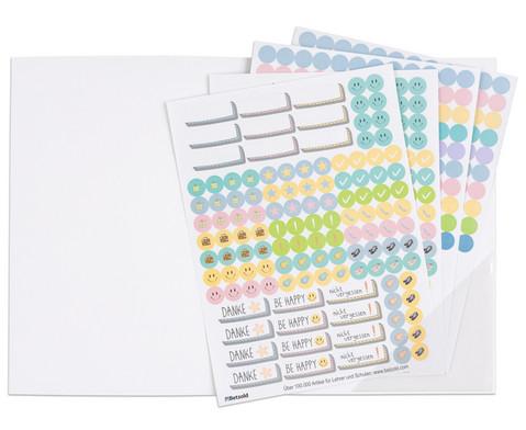 Sticker zum Design-Schulplaner 4 Bogen-1