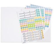 Sticker zum Design-Schulplaner, 4 Bogen