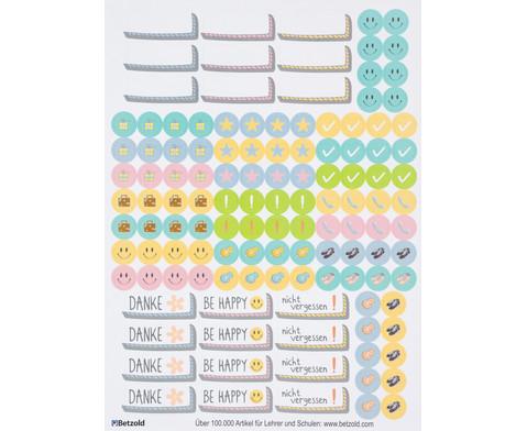 Sticker zum Design-Schulplaner 4 Bogen-3