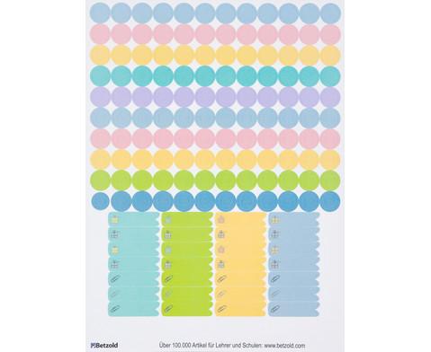 Sticker zum Design-Schulplaner 4 Bogen-4