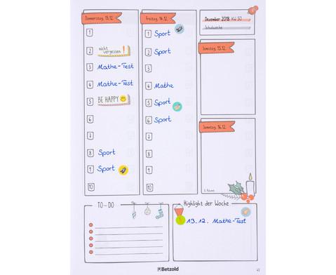 Sticker zum Design-Schulplaner 4 Bogen-8