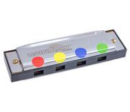 Mundharmonika mit Spielanleitung nach Farben