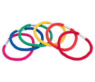 Regenbogen-Ringe aus Baumwolle, 6 Stück