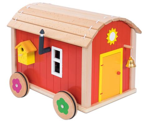 Puppenbauwagen mit Zubehoer