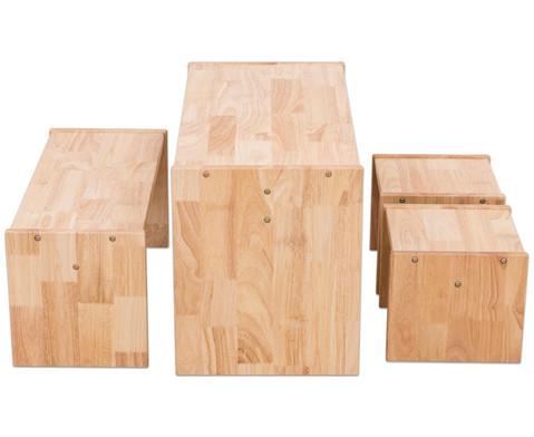 Holz-Sitzgruppe 4-teilig