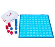 Zahlenraum 100 - Spielplane, Figuren und Würfel, 75 x 75 cm