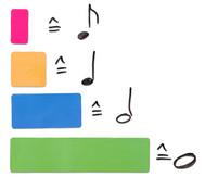 Bunte Betzold Rhythmus Bausteine, magnetisch