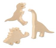 Schnitz-Rohlinge Dinosaurier, 3er-Set