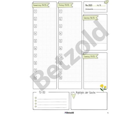 Betzold Design-Schulplaner 2019-2020 Hardcover DIN A5-9