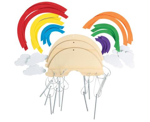 Bastelset Windspiel Regenbogen 12 Stueck