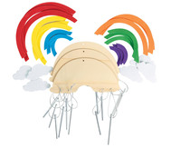 Bastelset Windspiel Regenbogen, 12 Stück