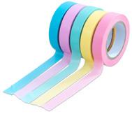 Washi Tape Set aus 5 Rollen, Uni Pastell