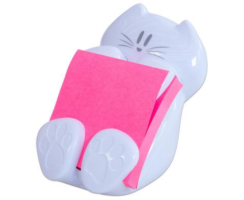 Spender fuer Super Sticky Z-Notes  Katze