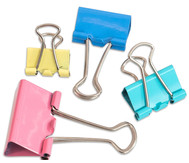 Foldback Klammern - Pastell Set mit 30 Stück