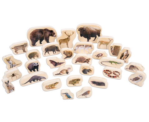 Waldtier-Set aus Holz