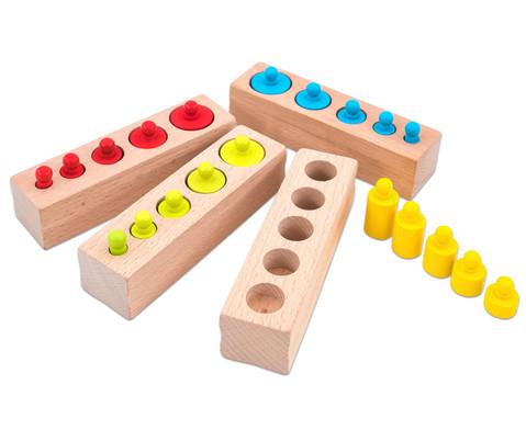 Montessori Steckspiel Zylinder