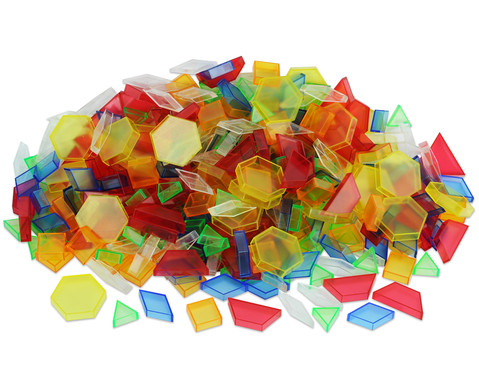 Betzold Transparente Pattern-Blocks 360 Teile in Stapelbox