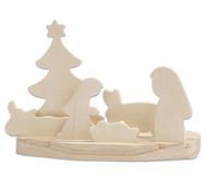 Weihnachtskrippe mit Kerzenhalter zum Selbstgestalten