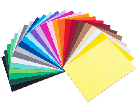Tonpapier 25 Farben 100 Blatt