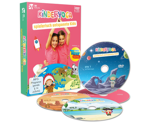 Kinderyoga - Spielerisch entspannte Kids 3 DVDs