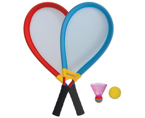 XXL Tennis- und Badminton-Set