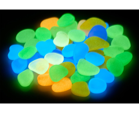 Leuchtkiesel Glow in the Dark 50-tlg
